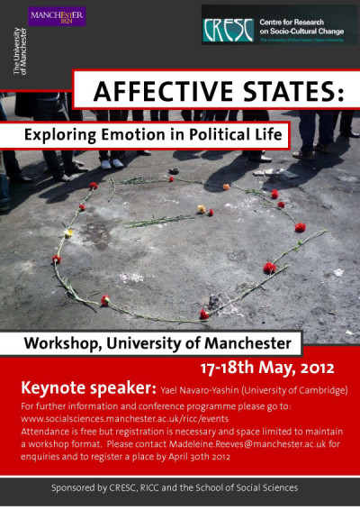 Affective States workshop, Manchester May 2012