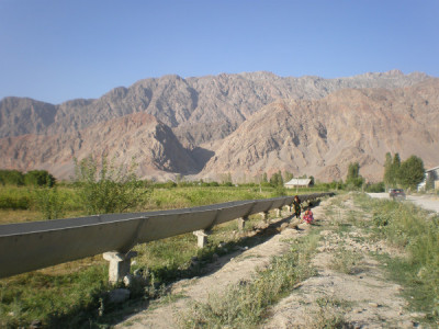 Irrigation canal near the Kyrgyzstan-Tajikistan border, Isfara valley